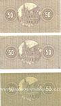 Banknotes Cologne. Stadt. Billets. 50 pf (3ex) 1.6.1918, série (Reihe) F VI, J VI et BV