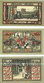 Banknotes Cologne. Stadt. Série de 3 billets. 50 pf (3ex) série A, B1, D 12.1.1922