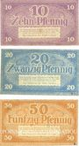 Banknotes Cottbus. Stadt. Billets. 10 pf, 20 pf, 50 pfennig n. d. - 31.12.1920