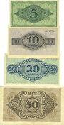 Banknotes Cottbus. Stadt. Billets. 5, 10, 20, 50 mark 20.11.1918