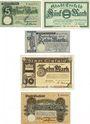 Banknotes Crefeld. Stadt. Billets. 5 mk (2ex), 10 mk (2ex), 20 mk 21.10.1918, cachet Ungultig