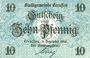 Banknotes Creussen. Stadt. Billet. 10 pfennig 1.12.1916 (1918)