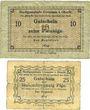 Banknotes Creussen. Stadt. Billets. 10 pf, 25 pf n. d.