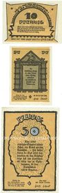 Banknotes Crivitz. Stadt. Billets. 10, 25, 50 pfennig n.d., Reutergeld