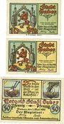 Banknotes Daber (Dobra, Pologne). Stadt. Billets. 10, 25, 50 pg 1.5.1921