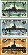 Banknotes Dahlenburg. Spar- und Darlehnskasse E. G.m.u.H. Billets. 10, 25, 50 pf 1.11.1920