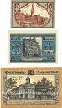 Banknotes Dahne. Stadt. Billets. 10, 25, 50 pf 1920