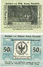 Banknotes Dannefeld i. Altmark. Warenhaus Wilhem Gadau. Billets. 10, 50 pf 1.5.1921