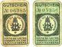 Banknotes Dannenberg. Sparkasse der Stadt. Billets. 5, 10 pf n.d. - 1.7.1919