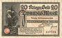 Banknotes Danzig (Gdansk, Pologne). Stadt. Billet. 20 mark 15.11.1918, cachet UNGULTIG
