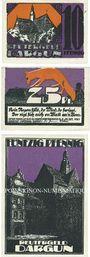 Banknotes Dargun. Gemeinde. Billets. 10 pf, 25 pf, 50 pf (1922), Reutergeld