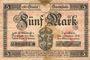 Banknotes Darmstadt. Stadt. Billet. 5 mark 1.10.1918