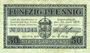 Banknotes Darmstadt. Stadt. Billet. 50 pfennig 30.6.1917