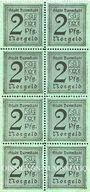 Banknotes Darmstadt. Stadt. Billets. 2 pf 1920, bloc de 8 exemplaires