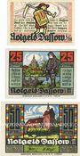 Banknotes Dassow. Gemeinde. Billets. 10 pf, 25 pf, 50 pf (1921)