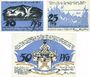 Banknotes Dassow. Gemeinde. Billets. 10 pf, 25 pf, 50 pf (1922)