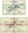 Banknotes Datteln. Amt. Billets. 5 mark, 20 mark 17.10.1918