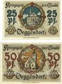 Banknotes Deggendorf. Stadt. Billets. 25 pf, 50 pf octobre 1918