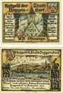 Banknotes Deggendorf. Stadt. Billets. 25 pf, 50 pf septembre 1920