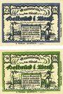 Banknotes Delbrück. Stadt. Billets. 25 pf, 50 pf 27.1.1921
