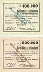 Banknotes Delmenhorst. Hanseatische Jute Spinnerei & Weberei. Billets. 100000, 500000 mk 15.8.1923