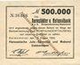 Banknotes Delmenhorst. Hanseatische Jute Spinnerei und Weberei. Billet. 500 000 mark 15.8.1923