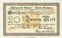Banknotes Demmin. Stadt. Billet. 20 mark 25.11.1918