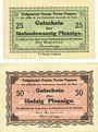 Banknotes Demmin. Stadt. Billet. 25 pfennig, 50 pfennig (1920)