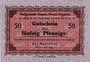 Banknotes Demmin. Stadt. Billet. 50 pfennig (1916-1918)