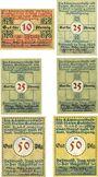 Banknotes Detmold. Stadt. Billets. 10 pf, 25 pf (3ex), 50 pf (2ex) août 1920