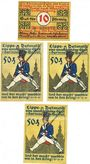 Banknotes Detmold. Stadt. Billets. 10 pf, 50 pf ((3ex)