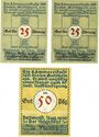 Banknotes Detmold. Stadt. Billets. 25 pf (2ex), 50 pf