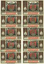 Banknotes Detmold. Stadt. Série de billets. 50 pf (10 ex), série A,  août 1920