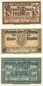 Banknotes Diepholz. Kreis. Billets. 10 pf, 20 pf, 50 pf 1.9.1920