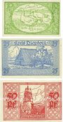 Banknotes Diepholz. Kreis. Billets. 10 pf, 25 pf, 50 pf 1.9.1920
