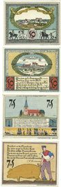 Banknotes Diepholz. Kreis. Billets. 50 pf (2ex), 75 pf (2ex) 15.8.1921