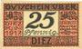Banknotes Diez. Stadt. Billet. 25 pfennig juin 1917 - 31.12.1918