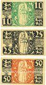 Banknotes Diez. Stadt. Billets. 10 pf, 25 pf, 50 pf novembre 1919