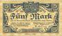 Banknotes Dillenburg. Dillkreis. Billet. 5 mark 8.10.1918