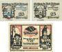 Banknotes Dillingen. Stadt. Billets. 20 pf, 25 pf, 50 pf 1.5.1920