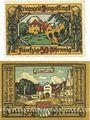 Banknotes Dingelfing. Stadt. Billets. 50 pf 1918 ; 50 pf 1.10.1920