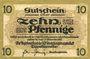 Banknotes Dippoldiswalde. Amtshauptmannschaft. Billet. 10 pf (31.12.1918), ausgabe N