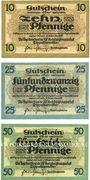 Banknotes Dippoldiswalde. Amtshauptmannschaft. Billets. 10 pf, 25 pf, 50 pf n.d; - 31.12.1918