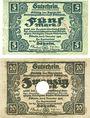 Banknotes Döbeln. Amtshauptmannschaft. Billets. 5, 20 mark 8.11.1918