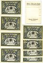 Banknotes Döbeln. Stadt. Billets. 50 pfennig (8ex) 1.9.1921, avec emballage d'origine