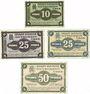 Banknotes Dömitz. Sparkasse der Stadt. Billets. 10 pf, 25 pf (2ex), 50 pf 1.6.1920