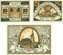 Banknotes Dömitz. Stadt. Billets. 10 pf, 25 pf, 50 pf (1922), Reutergeld