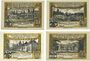 Banknotes Domnau (Russie, Domnowo). Stadt. Billets. 25, 50, 75 pf, 1 mark 1.8.1921