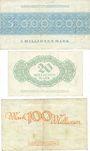 Banknotes Dresden-Altstadt. Amtshauptmannschaft. Billets. 5, 20, 100 millions de mark 1923