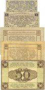 Banknotes Dresden. Gemeinschafts ausgabe der Dresdner Industrie. Billets. 2, 5, 10, 20, 50 mk12.11.1918
